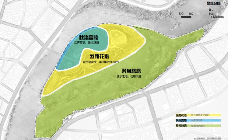 [四川]南充嘉陵江湿地公园景观设计方案-景观分区