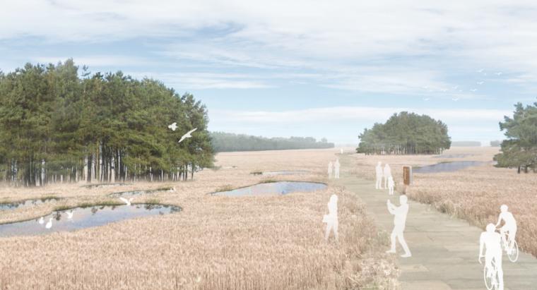 [山东]济南黄河公园景观设计方案-SOM-效果图