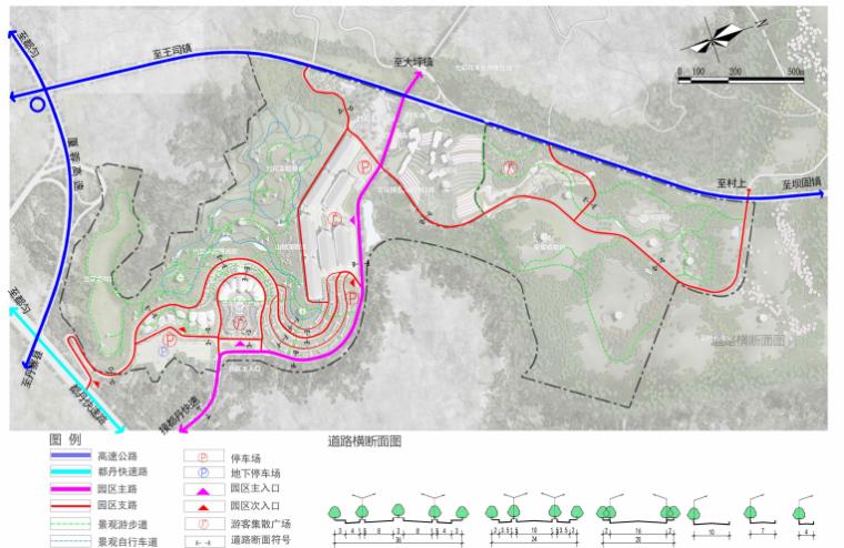 [贵州]都匀带状国家农业公园景观设计方案-道路交通规划