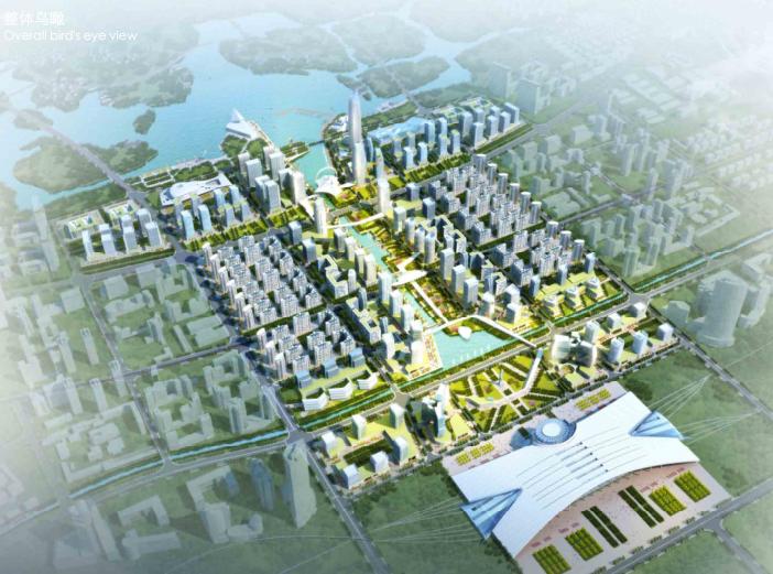 金义新区总体规划及重点地段城市设计2018-整体鸟瞰