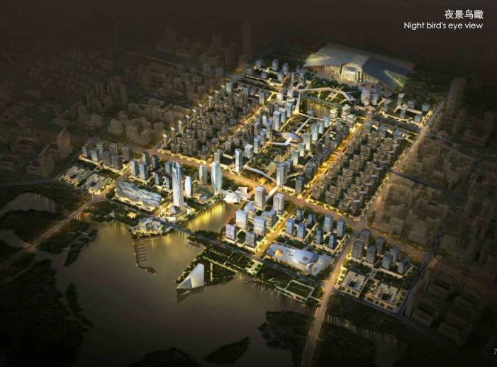 金义新区总体规划及重点地段城市设计2018-夜景鸟瞰