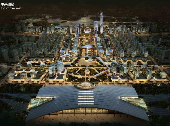 金义新区总体规划及重点地段城市设计2018-中央轴线