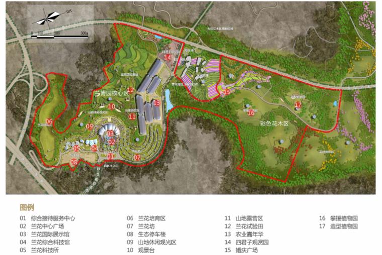 [贵州]都匀带状国家农业公园景观设计方案-总平面图