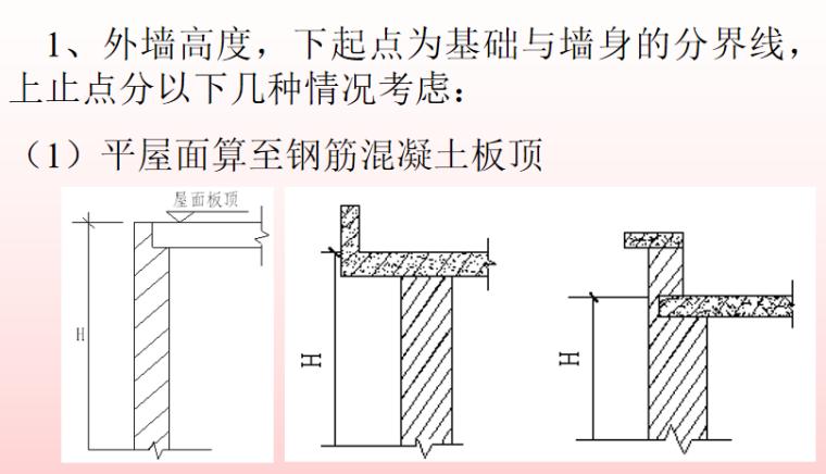 砌筑工程定额及工程量计算PPT-07 墙体高度与长度的确定