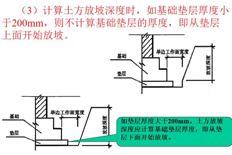 土石方工程计量与计价讲义PPT-09 土方放坡深度