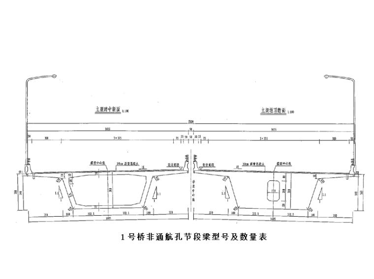 [浙江]桥梁承台安全专项施工方案-节段梁型号及数量表