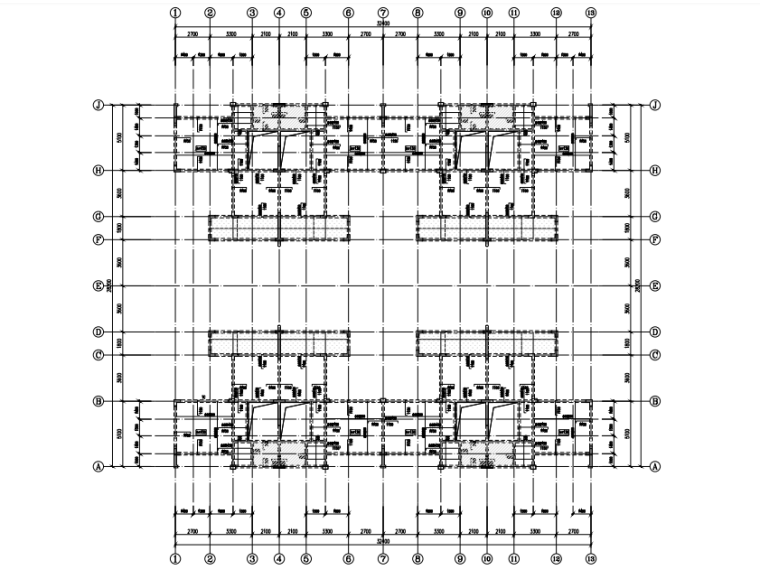 [贵州]4座框剪结构合院别墅结构施工图2018-板平法施工图