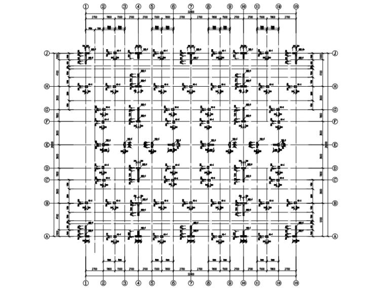 [贵州]4座框剪结构合院别墅结构施工图2018-剪力墙及柱平法施工图