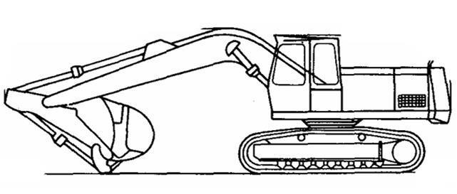 土石坝工程施工与质量控制-反向铲挖掘机