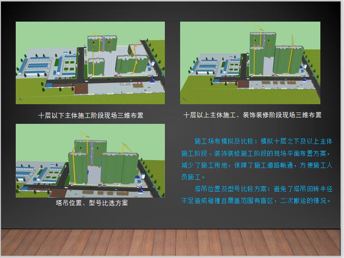 BIM技术中心建立过程经验分享PPT-施工场布模拟及比较