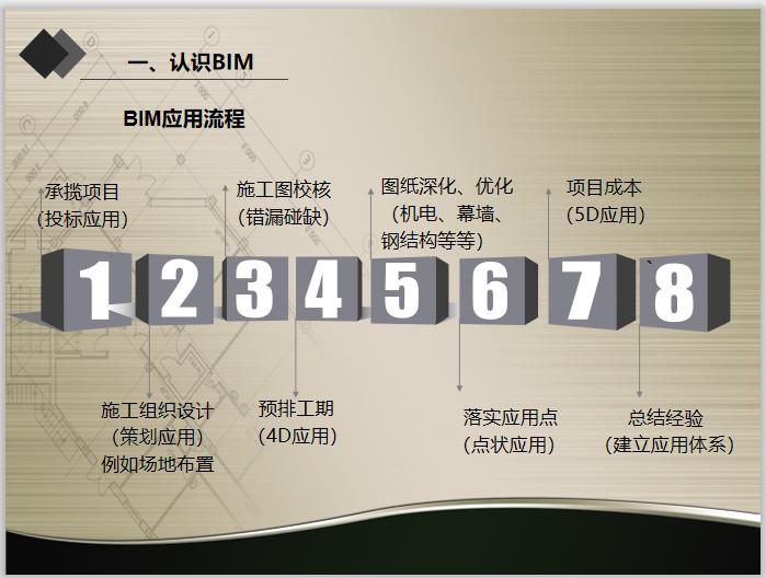 项目实践BIM技术应用核心团队建立培训-BIM应用流程