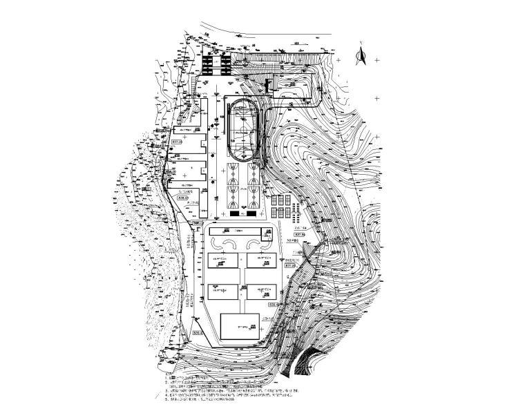 [贵州]新建小学边坡支护设计_施工图阶段-新建项目边坡支护设计图