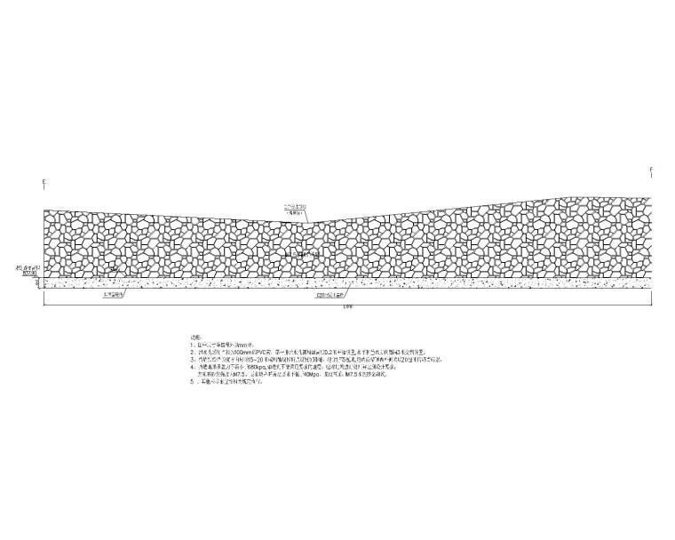 [贵州]新建小学边坡支护设计_施工图阶段-边坡支护设计结构立面图