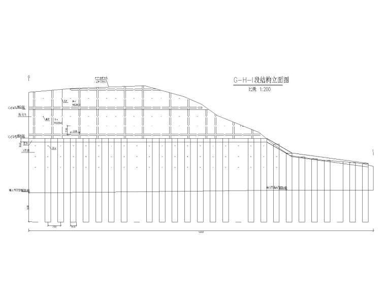 [贵州]新建小学边坡支护设计_施工图阶段-边坡支护设计结构立面图2