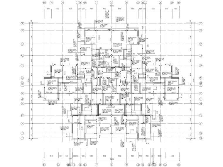 25层剪力墙结构商业住宅施工图(含建筑结构)-71.950梁平法施工图