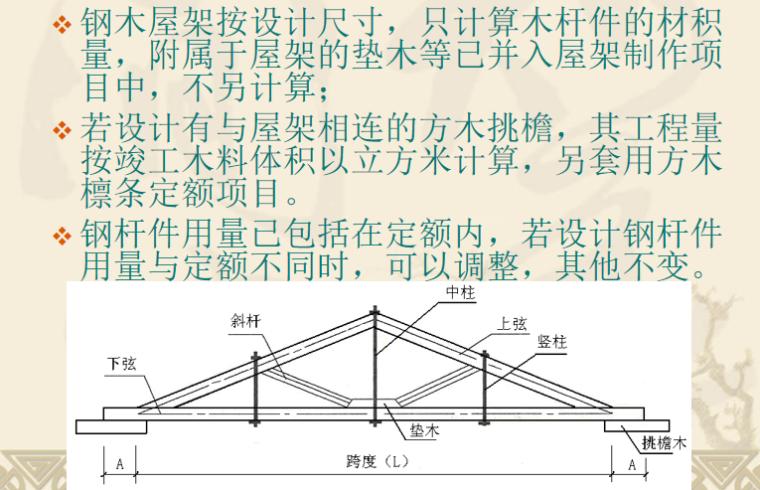 门窗及木结构工程定额及工程量计算PPT-05 钢木屋架