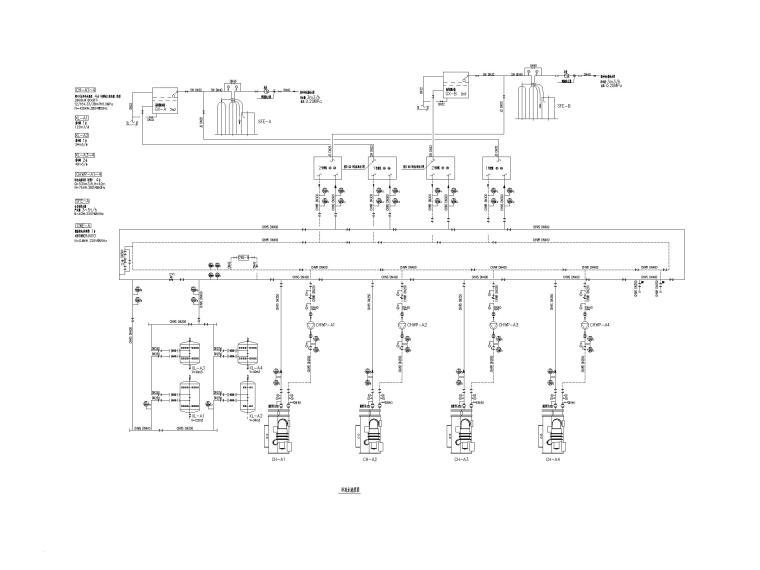 空调末端水系统原理图_冷冻水_冷却水系统-冷冻水流程图(一)