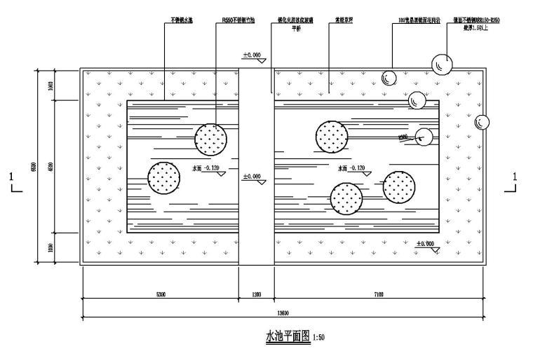不锈钢水池及玻璃平桥详图设计 (1)