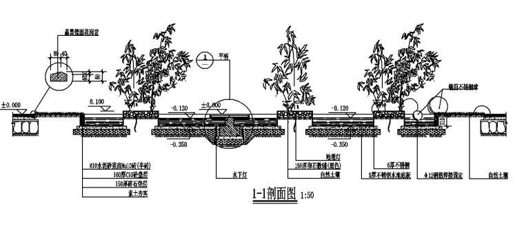 不锈钢水池及玻璃平桥详图设计 (3)