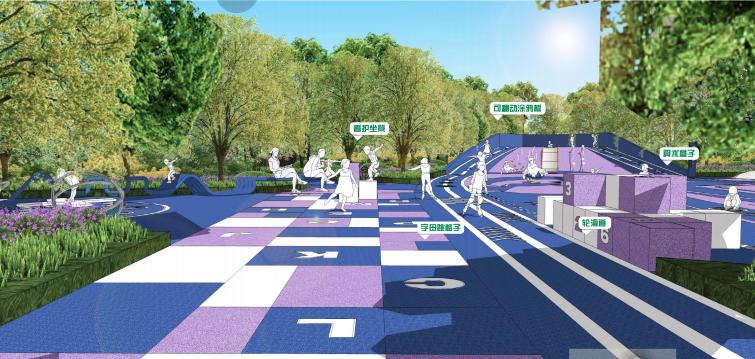 [重庆]滨水互动型社区花园景观设计-童趣乐园效果图