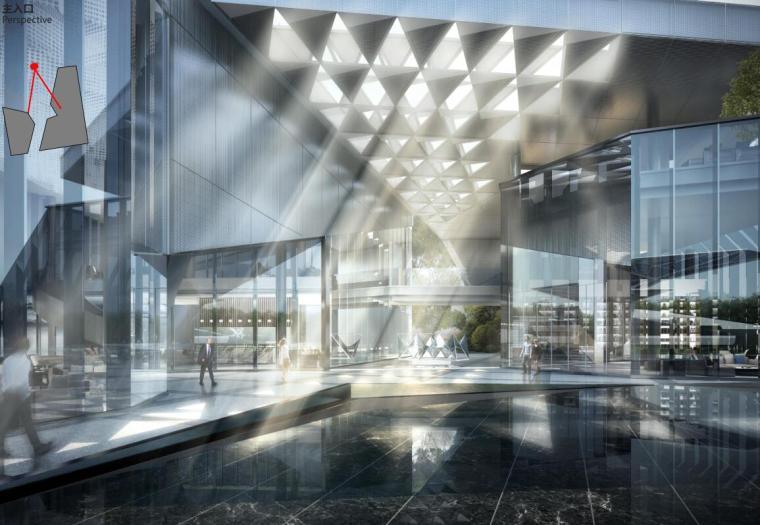 [云南]生态环串联居住区建筑方案设计竞赛-主入口效果图