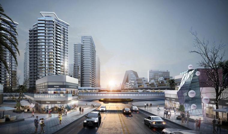 [云南]生态环串联居住区建筑方案设计竞赛-效果图2