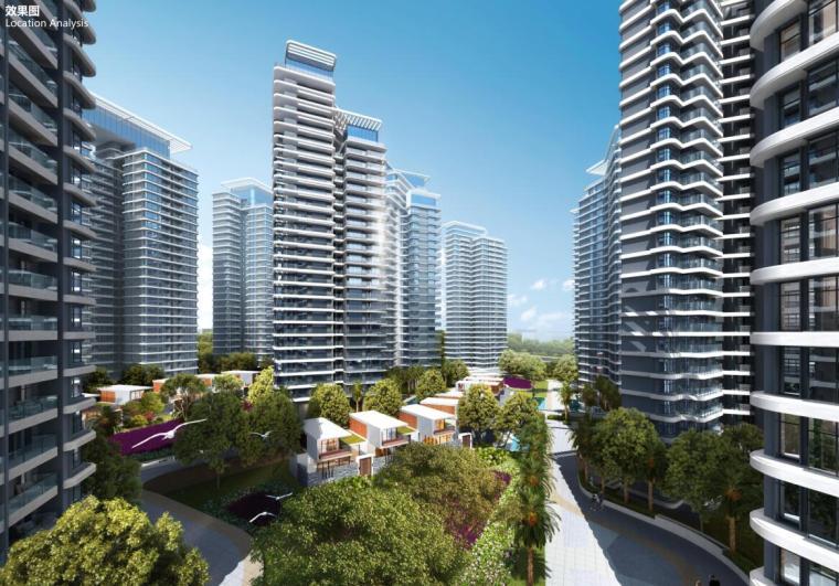 [云南]生态环串联居住区建筑方案设计竞赛-效果图3