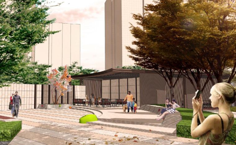 [天津]现代欧式艺术教育学区房景观设计-效果图4