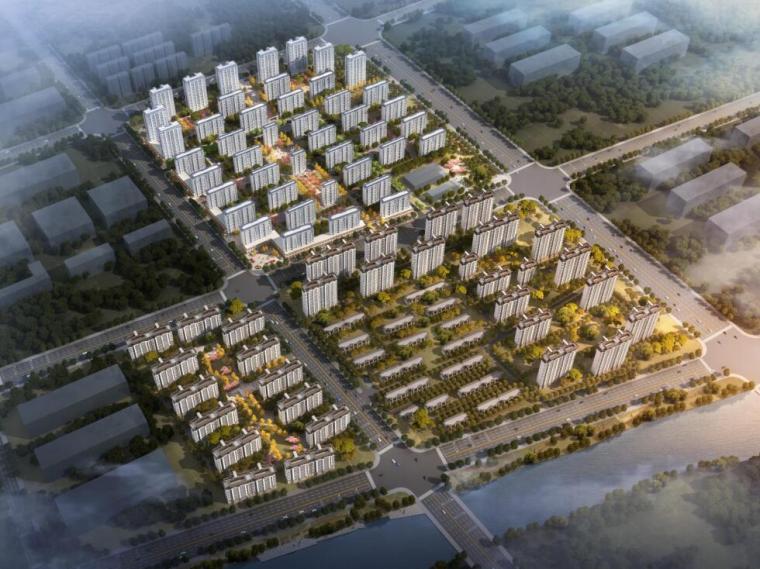 [山东]青岛新中式风格生态区豪宅建筑方案-01 鸟瞰图