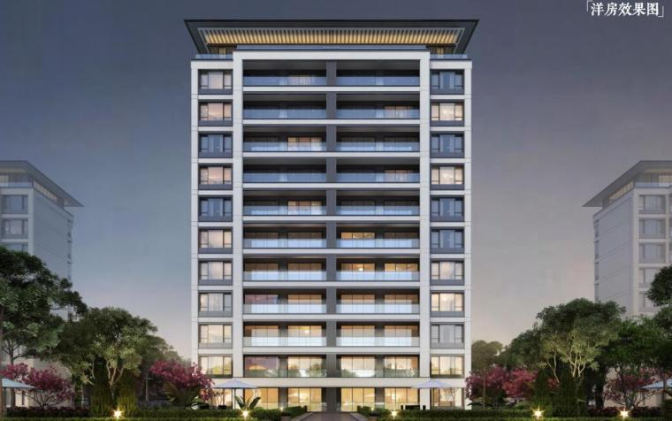 [山东]青岛新中式风格生态区豪宅建筑方案-洋房效果图