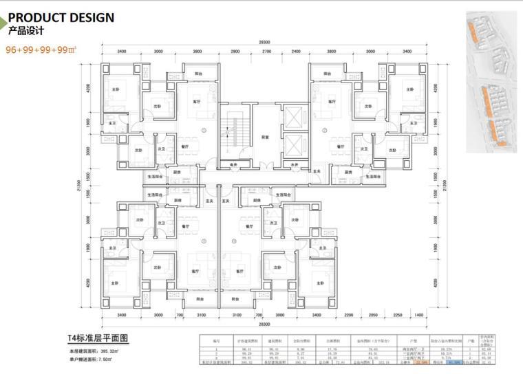 [重庆]两江新区新中式山地住宅投标方案-96+99+99+99㎡