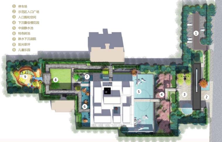 [江苏]苏州新亚洲风格高端豪宅景观设计-平面图