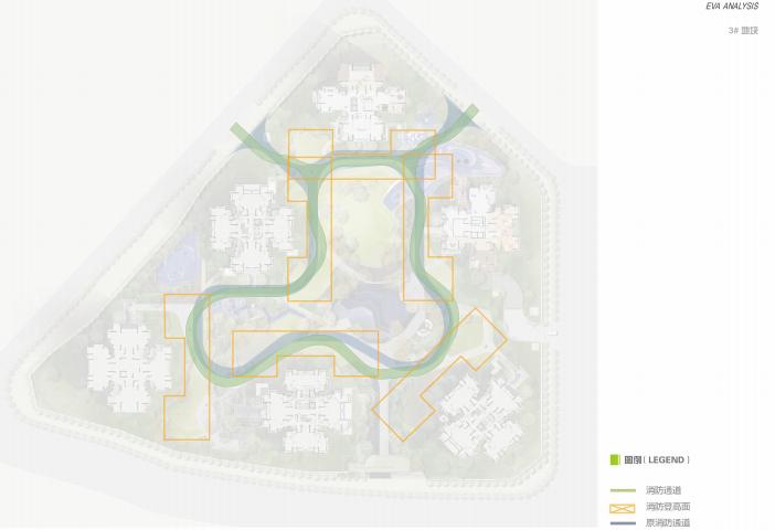 [重庆]滨水互动型社区花园景观设计-消防流线分析