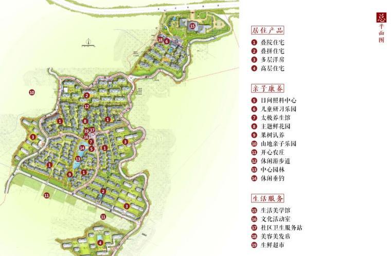 [北京]新中式风格山地住宅投标方案设计-总平面图