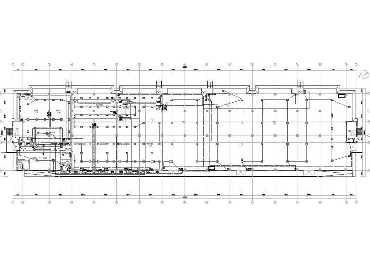 [一键下载]重庆某数据中心电气图纸(全)-[重庆]数据机房中心智能化招标图-1火灾自动报警系统平面图