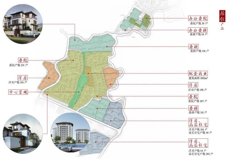 [北京]新中式风格山地住宅投标方案设计-居住区产品