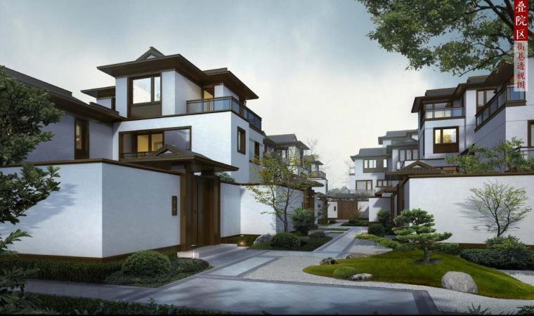 [北京]新中式风格山地住宅投标方案设计-效果图