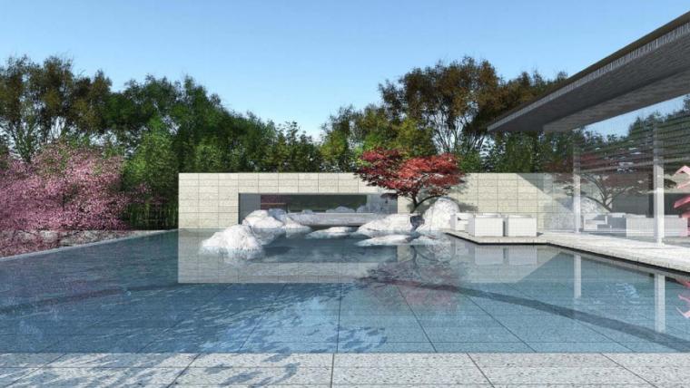 [江苏]苏州新亚洲风格高端豪宅景观设计-效果图4