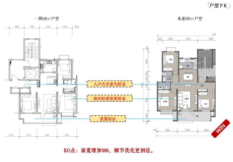 [山东]青岛新中式风格生态区豪宅建筑方案-户型PK