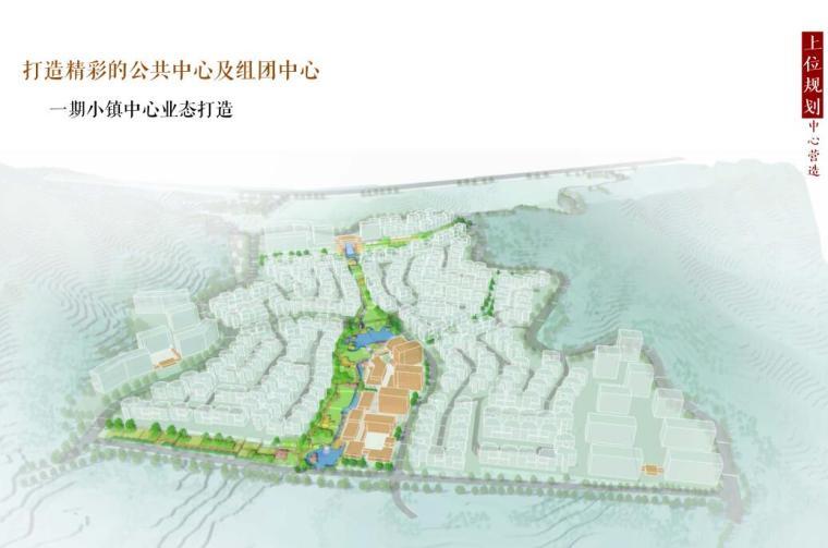 [北京]新中式风格山地住宅投标方案设计-一期小镇中心业态打造