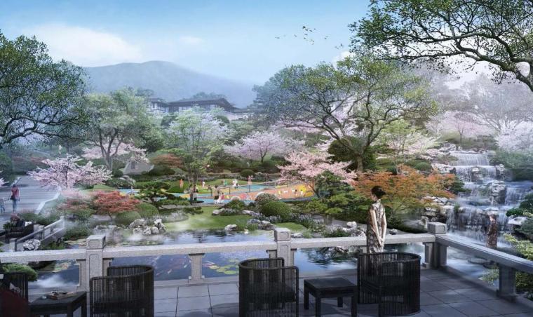 [北京]新中式风格山地住宅投标方案设计-效果图4