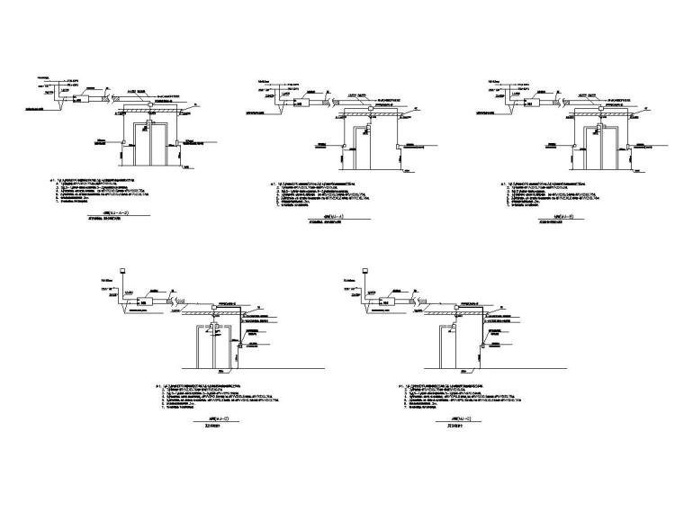 [一键下载]重庆某数据中心电气图纸(全)-[重庆]数据机房中心智能化招标图-9门禁系统大样图