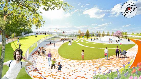 [一键下载]13套公园景观高清方案资料合集-[四川]南充嘉陵江湿地公园景观设计方案