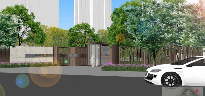 [重庆]滨水互动型社区花园景观设计-次日口效果图