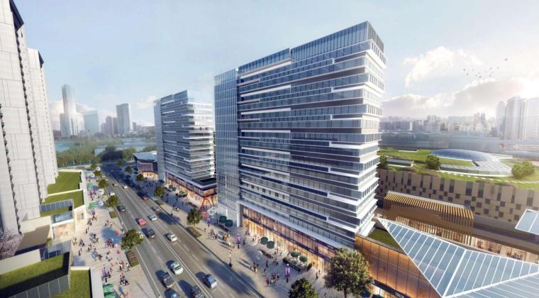 [云南]滨江邻里社区居住区规划建筑方案-公寓沿街效果图