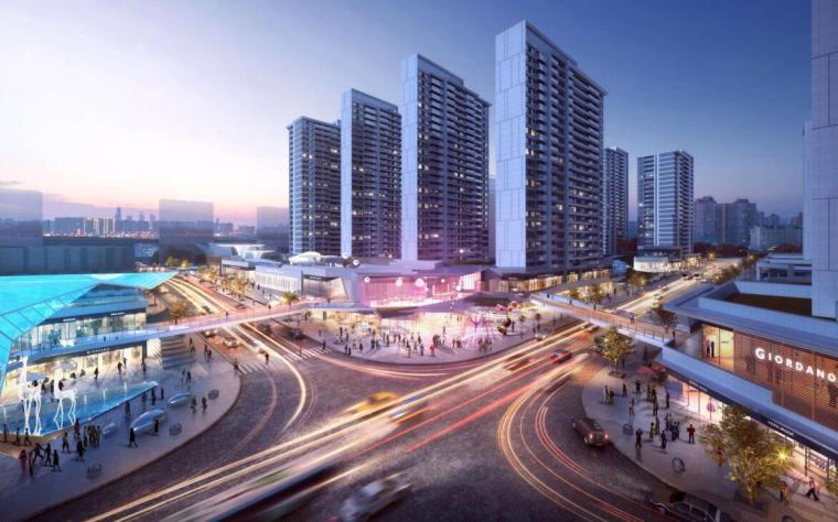[云南]滨江邻里社区居住区规划建筑方案-环岛沿街效果图