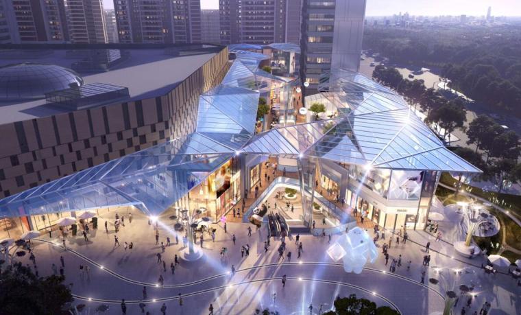 [云南]滨江邻里社区居住区规划建筑方案-金街入口效果图