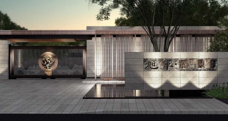 [江苏]苏州新亚洲风格高端豪宅景观设计-效果图
