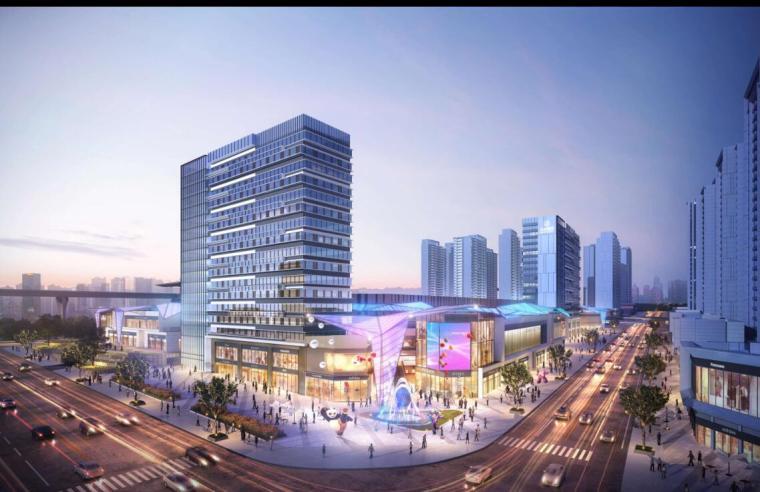 [云南]滨江邻里社区居住区规划建筑方案-金街转角效果图