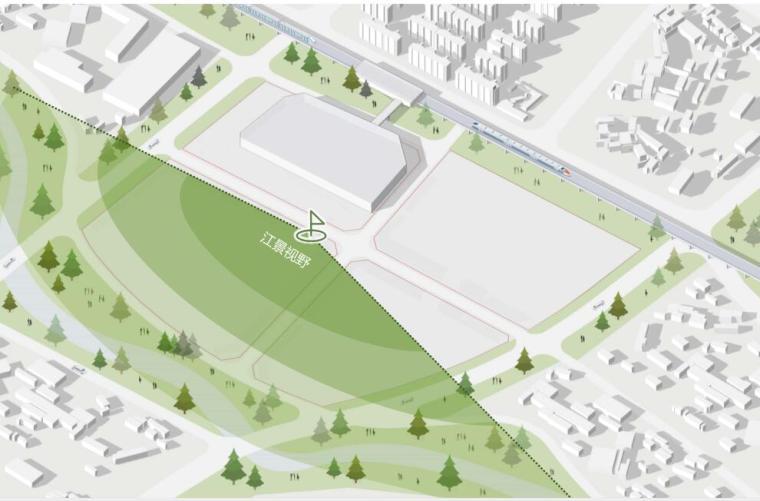 [云南]滨江邻里社区居住区规划建筑方案-景观视线